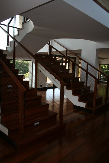 Mahogany Flooring and Staircase