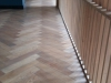 Oak Herringbone Floor; Rubio Monocoat Ash Grey