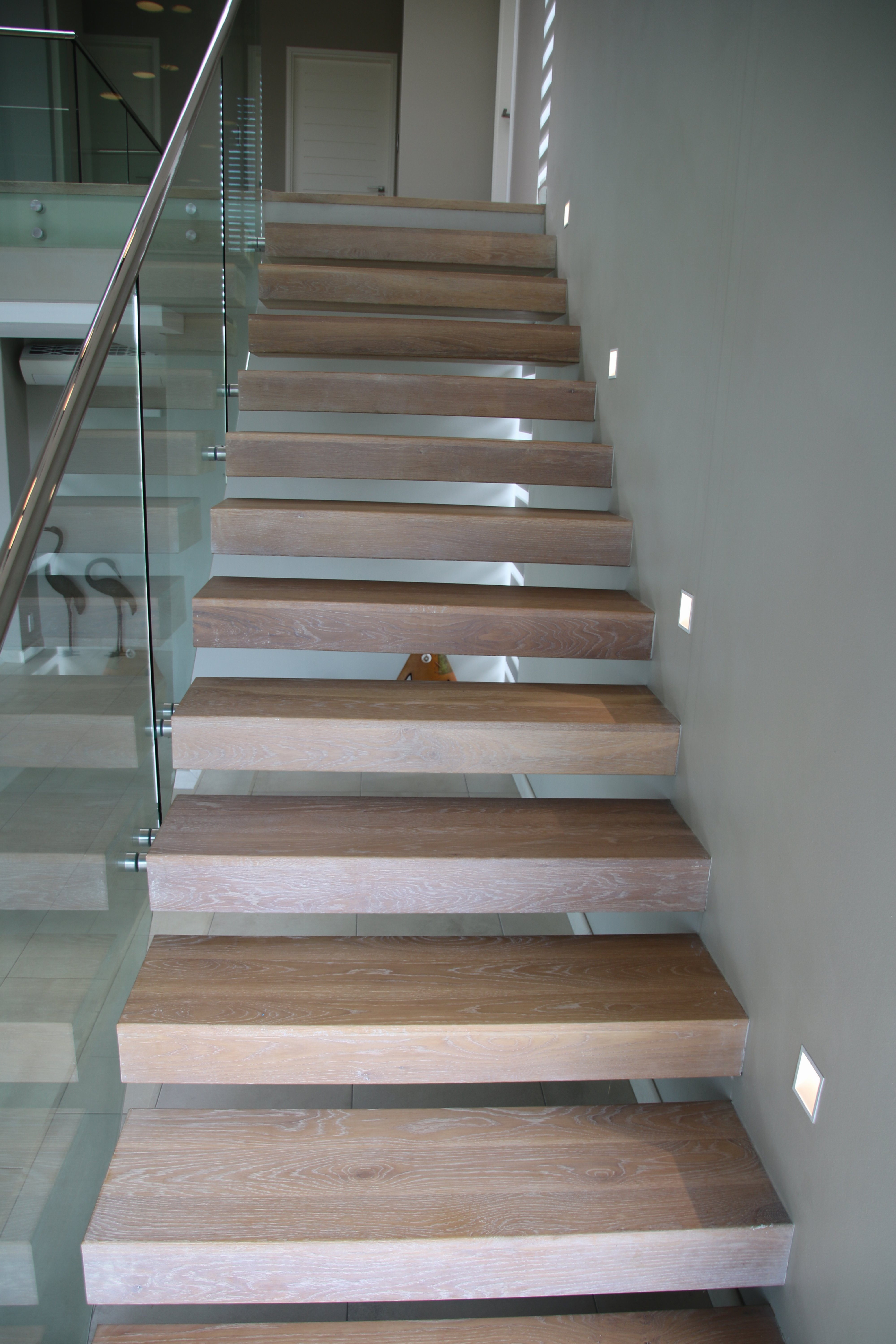 Oak floating staircase