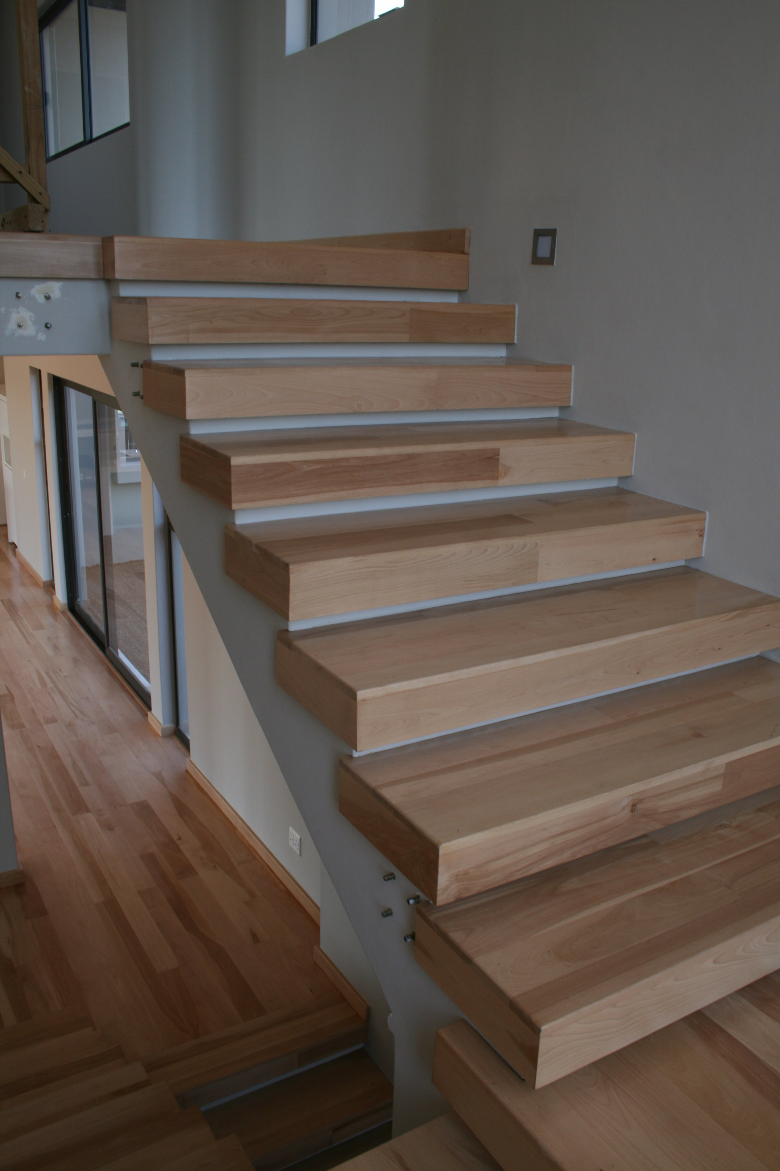 Solid Beech stairs