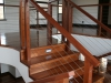 Mahogany staircase and mahogany balustrade